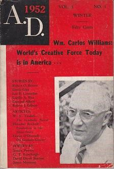 A. D. 1952 Vol. 3, No. 1 [Anno Domini] - with WILLIAM CARLOS WILLIAMS