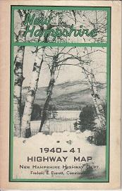 New Hampshire 1940-41 Highway Map