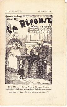 La Response Revue Mensuelle, No. 321, Septembre 1934 [The Response Monthly]