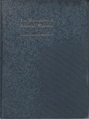 Brown University Studies. The Ephemerides of Alexander's Expedition