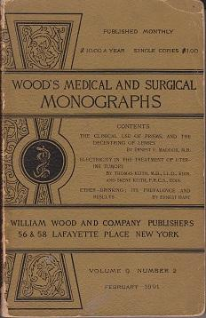 Wood's Medical and Surgical Monographs. Volume IX, Number 2