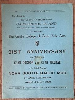 Souvenir Booklet. The Romantic Nova Scotia Highlands, Cape Breton Island, Featuring The Gaelic Co...