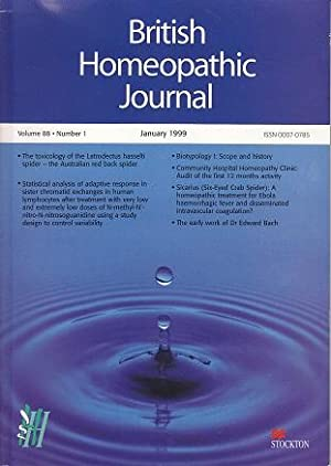 British Homeopathic Journal, Volume 88, Number 1, January 1999