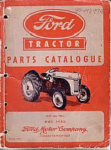 Ford Tractor Parts Catalogue 1939 Thru 1950