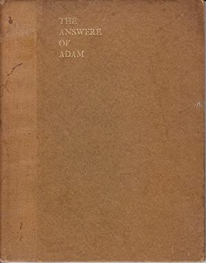 The Answere of Adam [SIGNED]