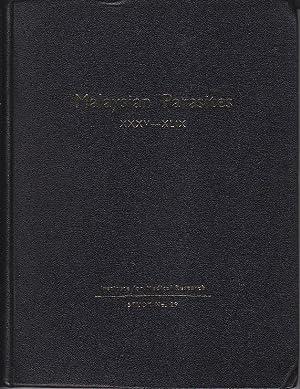 Malaysian Parasites XXXV-XLIX. Studies from the Institute: MacDonald, W. W.