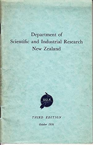 Department of Scientific and Industrial Research New Zealand - Departmental Handbook
