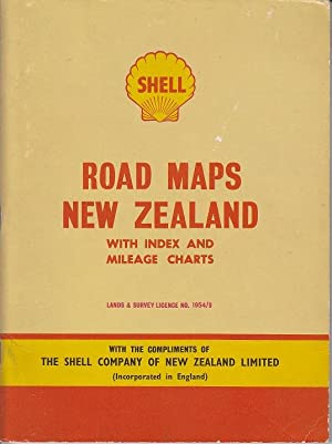 Shell Road Maps, New Zealand, With Index and Mileage Charts