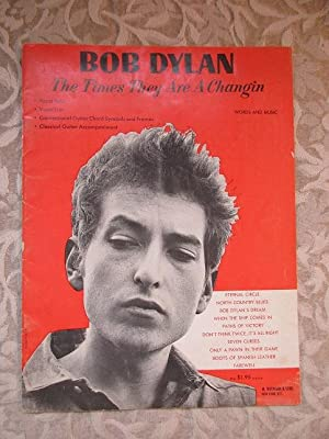 Bob Dylan, The Times They Are A Changin. Vocal Solo, Vocal Trio, Conventional Guitar Chord Symbol...