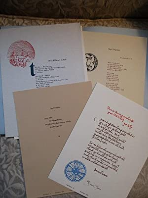 MAD RIVER PRESS - 6 Broadsides, Limited Edition, Most Signed - in a Portfolio