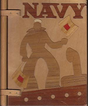 NAVY Hinged Wooden Book Cover - UNUSUAL