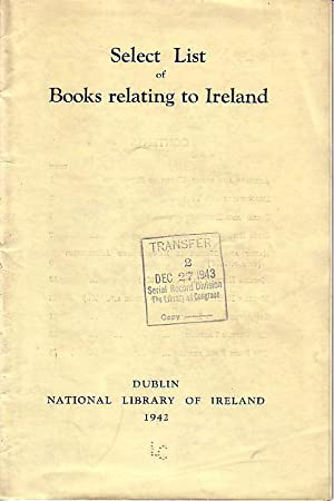 Select List of Books Relating to Ireland