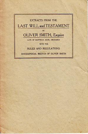 Extracts from the Last Will and Testament