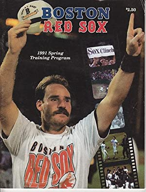Boston Red Sox 1991 Spring Training Program