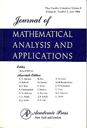 Journal of Mathematical Analysis and Applications - Volume 8, #3: Various