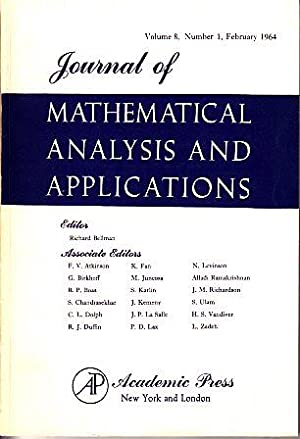 Journal of Mathematical Analysis and Applications - Volume 8, #1: Various
