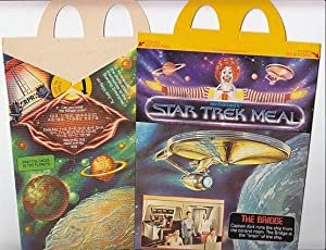 STAR TREK EPHEMERA - 6 McDonald's Happy Meal Boxes - Unused , Featuring Star Trek Cartoons and...