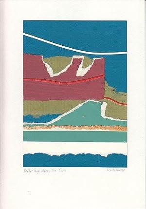 Crete High Places - ORIGINAL SIGNED PAPER ART: Hall, Lee
