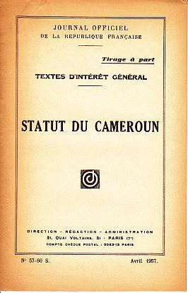 Journal Officiel De La Republique Francaise. Tirage a Part - Textes D'Interet General. Statut Du ...