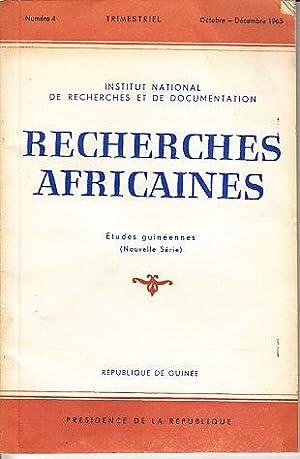 Trimestriel Numero 4, Octobre-Decembre 1963. Institut National De Recherches Et De Documentation - ...