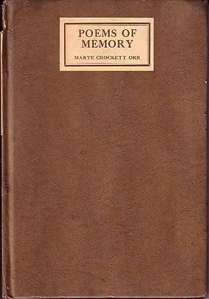 Poems of Memory: Orr, Marye Crockett