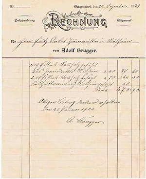 79410 Badenweiler-Schweighof - Adolf Brugger. Holzhandlung und Sägewerk. 1921