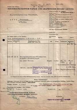 Versorgungskontor Papier und Graphischer Bedarf. 1969