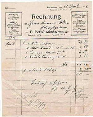 F. Pertz. Klempner. 1919