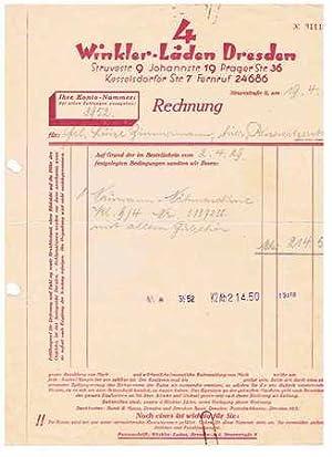 4 Winkler-Läden Dresden. Nähmaschinen. 1929