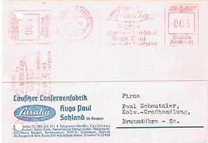 Lausitzer Conservenfabrik, Hugo Paul. Konservenfabrik. 1942
