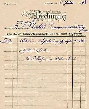 B.F. Strohmeier. Maler und Tapezierer. 1893