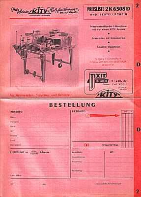 Preiliste 2 K 6308 D. Holzbearbeitungsmaschinen (um: TIXIT