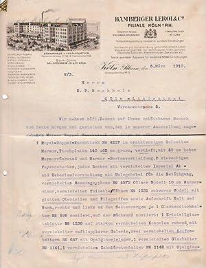 5xxxx Köln - Bamberger Lerol & Co. Armaturen-Fabrik. 1910