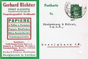 0314 Forst - Gerhard Richter. Verpackungsmittel-Großhandel. 1927
