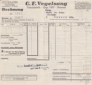 28xxx Bremen - C. F.Vogelsang. Tabakfabrik. 1937