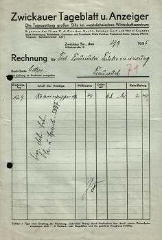 Zwickauer Tageblatt und Anzeiger. 1935