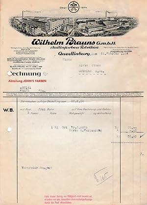 Wilhelm Brauns G.m.b.H. Anilinfarben-Fabriken. 1934