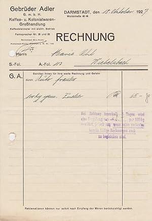 und Kolonialwaren-Großhandlung. 1927