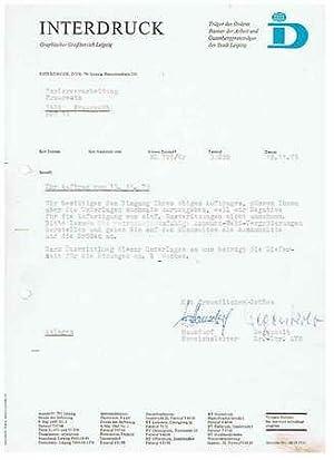 Interdruck. Graphischer Großbetrieb. 1979