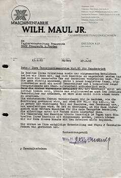 Wilh. Maul Jr. Maschinenfabrik. 1965