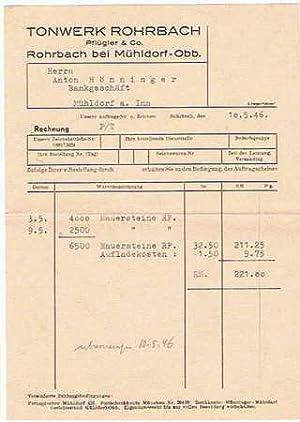 Tonwerk Rohrbach Pflügler & Co. Tonwerk. 1946