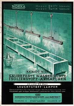 Katalog IV/54. Säurefeste wasserdichte Isolierstoff-Armaturen. 1954: und Elektro G.m.b.H....