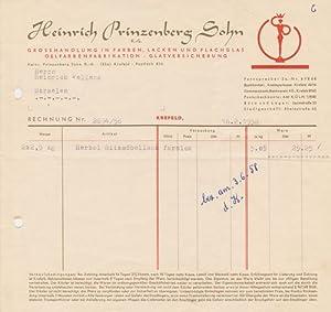 Heinrich Prinzenberg Sohn K.-G. Grosshandlung in Farben. 1958