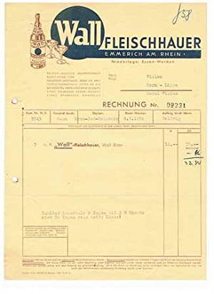 Wall-Fleischhauer. Spirituosen. 1950