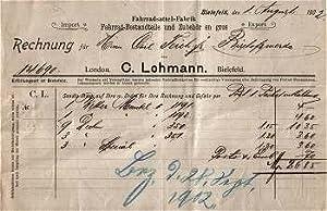 33xxx Bielefeld - C. Lohmann. Fahrradsattel-Fabrik. 1902