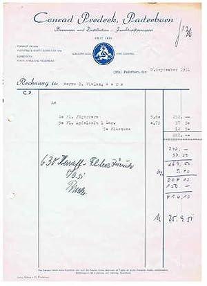 33xxx Paderborn - Conrad Predeek. Brennerei und Destillation, Fruchtsaftpresserei. 1951