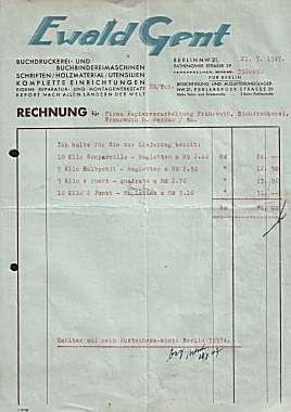 und Buchbindereimaschinen. 1947