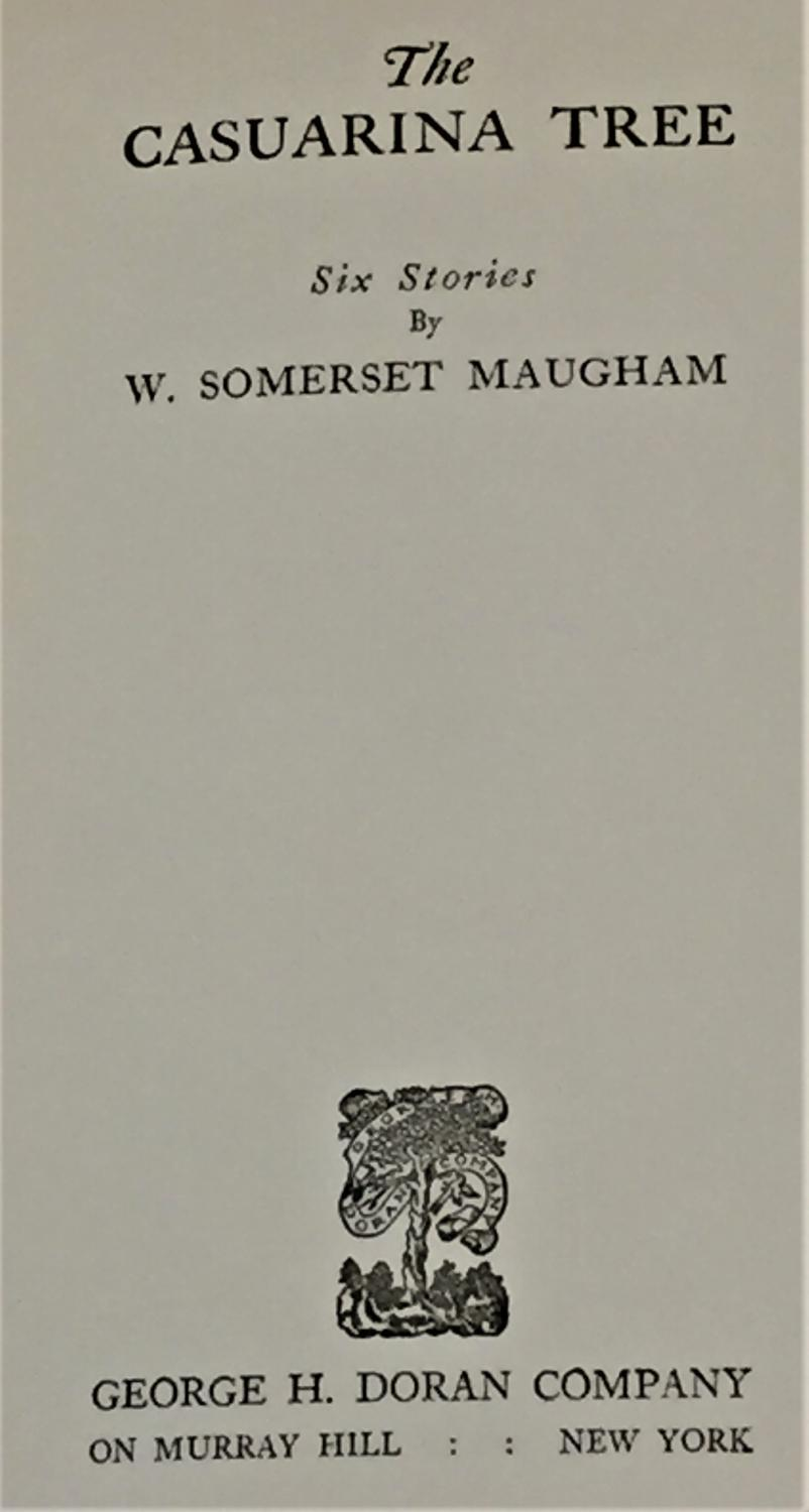 The Casuarina Tree By W Somerset Maugham 1926 My Book Heaven