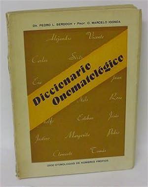 DICCIONARIO ONOMATOLÓGICO: SERDOCH, Pedro L. - MARCELO IGONDA, C.