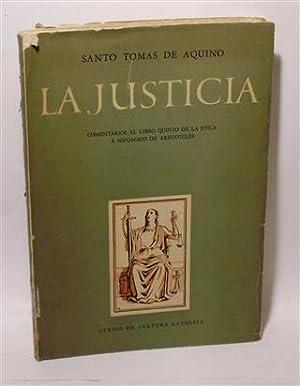 LA JUSTICIA: AQUINO, Santo Tomás de - RAFFO MAGNASCO, Benito R. (Trad.)